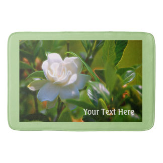Gardenia Bloom Bath Mat