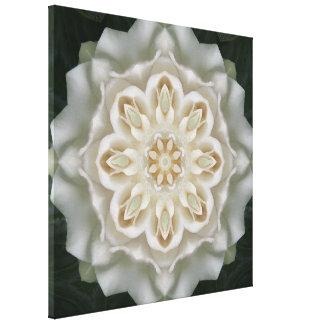 Gardenia Inner Glow Mandala Canvas Print