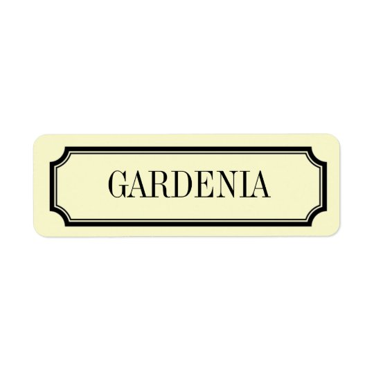 Gardenia Mansard Placard Fragrance Label