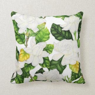 Gardenia Watercolor Throw Pillow