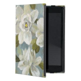 Gardenias on Slate Blue Cover For iPad Mini