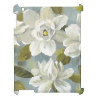 Gardenias on Slate Blue iPad Covers
