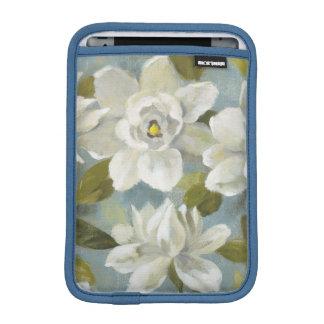 Gardenias on Slate Blue iPad Mini Sleeve