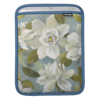 Gardenias on Slate Blue iPad Sleeve