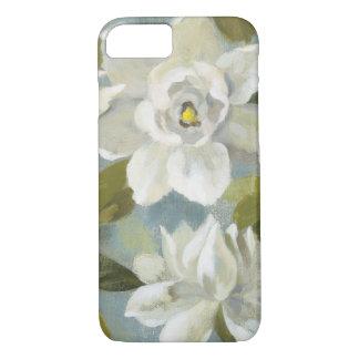 Gardenias on Slate Blue iPhone 8/7 Case