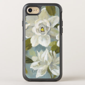 Gardenias on Slate Blue OtterBox Symmetry iPhone 7 Case