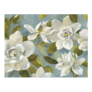 Gardenias on Slate Blue Postcard