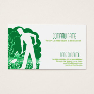 Gardening and landscape business card