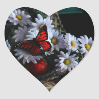 Gardening Bench Heart Sticker