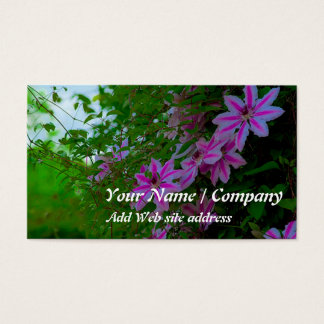 Gardening Business Card(Clematis) Business Card