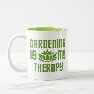 Gardening custom monogram mugs