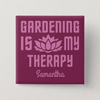 Gardening custom name & color button