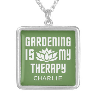 Gardening custom name & color necklace