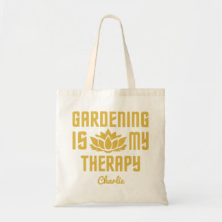 Gardening custom name tote bags