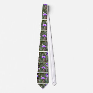 Gardening enthusiast little purple flowers photo neck ties