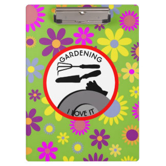 Gardening Flowers and Dreams Clipboard