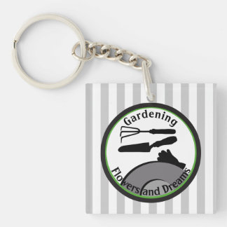 Gardening Flowers and Dreams Keychain