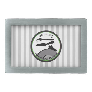 Gardening Flowers and Dreams Rectangular Belt Buckles