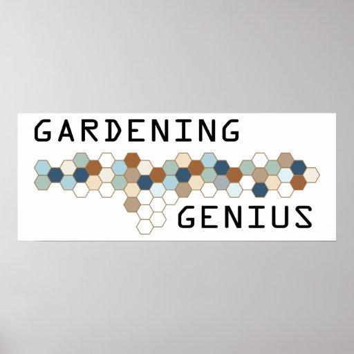 Gardening Genius Posters