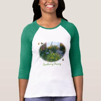 Gardening Granny-flowers+butterflies Shirts