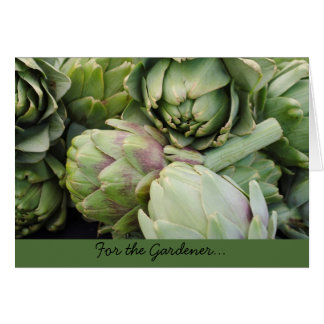 Gardening Greeting Card with Artichokes