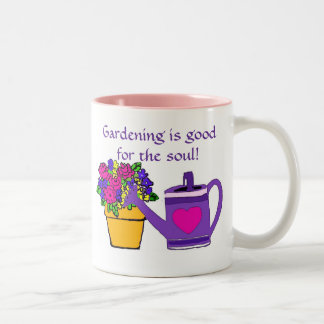 Gardening is good for the soul mug