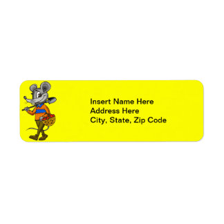 Gardening Mouse Return Address Label