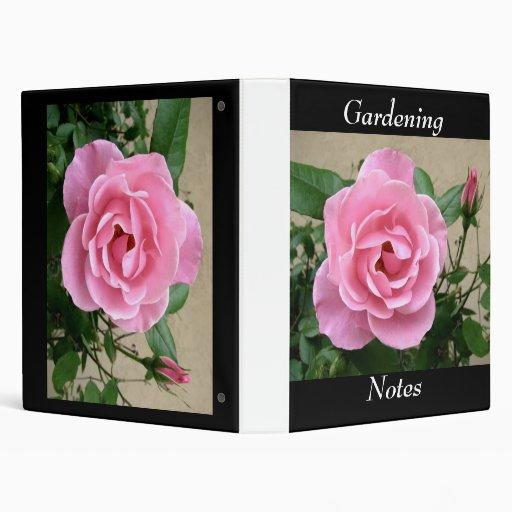 Gardening, Notes 3 Ring Binder