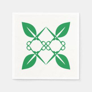 Gardening pattern paper napkin