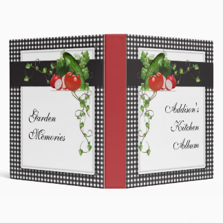 Gardening Personalized Album Vinyl Binders