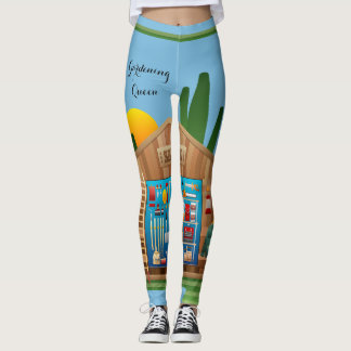 Gardening Queen Shed Tools Landscaping Leggings