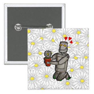 Gardening Robot 2 Inch Square Button