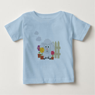 Gardening Sheep with flowers Z67e8 Baby T-Shirt