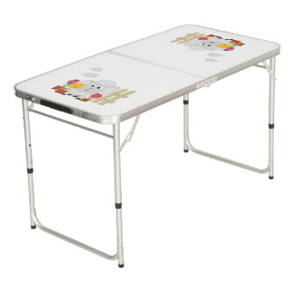 Gardening Sheep with flowers Z67e8 Beer Pong Table