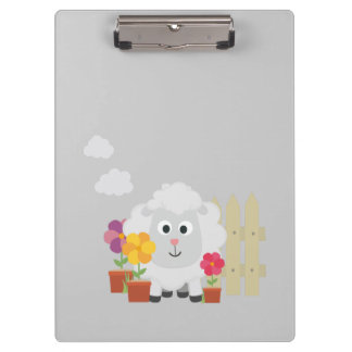 Gardening Sheep with flowers Z67e8 Clipboard
