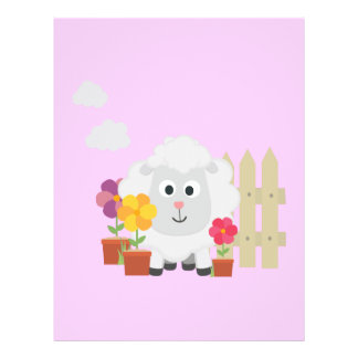 Gardening Sheep with flowers Z67e8 Custom Flyer