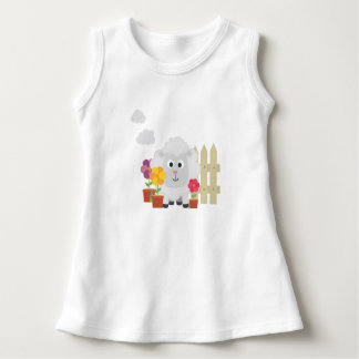 Gardening Sheep with flowers Z67e8 Dress
