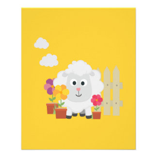 Gardening Sheep with flowers Z67e8 Flyer