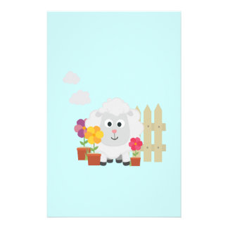 Gardening Sheep with flowers Z67e8 Full Color Flyer