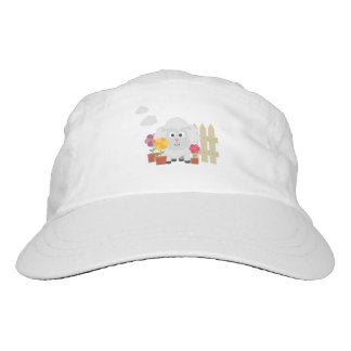 Gardening Sheep with flowers Z67e8 Headsweats Hat