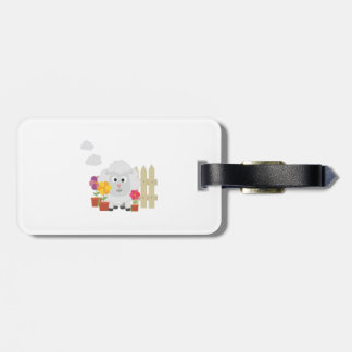 Gardening Sheep with flowers Z67e8 Luggage Tag