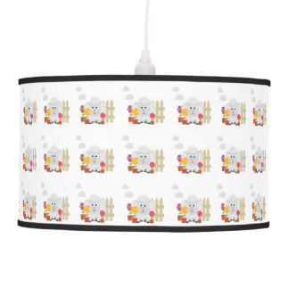 Gardening Sheep with flowers Z67e8 Pendant Lamp