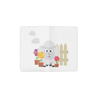 Gardening Sheep with flowers Z67e8 Pocket Moleskine Notebook