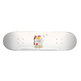 Gardening Sheep with flowers Z67e8 Skate Board Decks