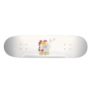 Gardening Sheep with flowers Z67e8 Skate Decks