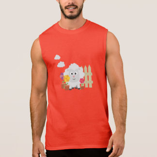 Gardening Sheep with flowers Z67e8 Sleeveless Shirt