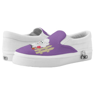 Gardening Sheep with flowers Z67e8 Slip-On Sneakers
