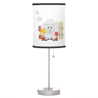 Gardening Sheep with flowers Z67e8 Table Lamp