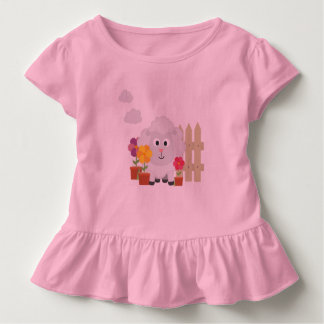 Gardening Sheep with flowers Z67e8 Toddler T-shirt