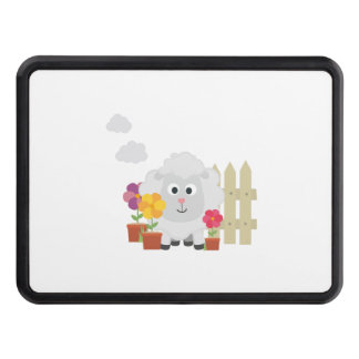 Gardening Sheep with flowers Z67e8 Trailer Hitch Cover